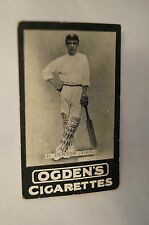 1901 -Vintage -Ogden's -Series B -TAB Cricket Card - D. Denton - Yorkshire.