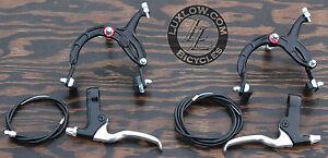Black Cruiser Bike Brake Set Lever Cable Caliper OS BMX Vintage Schwinn Bicycle
