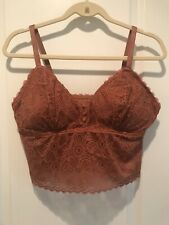 AERIE Queens Lace Padded Plunge Bralette Womens Size XL
