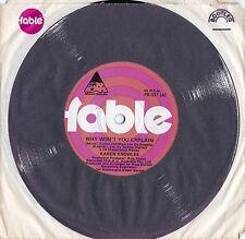 Karen Knowles~Original OZ 45 Why won't youy explain EX 1980 Fable FB337 Pop Rock