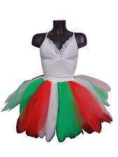 Neon 8 Layer Tutu Skirt Bustle Hen Party Fancy Dress 1980s Costume