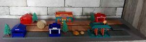 Rare lot Ville gare station plaques maisons arbres câble rochers kentoys 1999