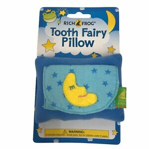 Blue Moon Stars Plush Soft Tooth Fairy Pillow Pocket New Rich Frog Loose Teeth