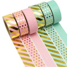 6 Rollen je 10m Washi Masking Tape Basteln Klebeband  Reispapier 0,22 Eur/m 9156