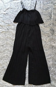 New Look - Pleated Jumpsuit in Black - Size 12