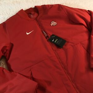 Nike $200 Ohio State OSU Buckeyes On-Field Size Small Shield Bomber Jacket