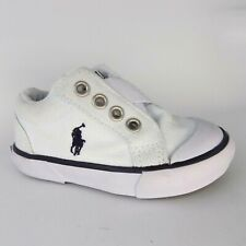 Polo Ralph Lauren Greggner II Toddler White Loafer Size 4.5 EU 20 AL2254