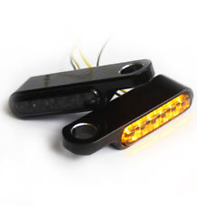 IRON OPTICS LED Blinker + Blinkerhalter für Lenkerarmaturen Bobber universal