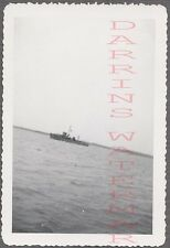 Unusual Vintage Photo Ship on Waterline Horizon Draining Out 730780