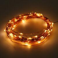 20-200LED Solar / Battery Powered Outdoor Xmas LED Fairy Lights String Party JG