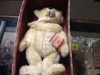 "MICHELE CLISE OPHELIA STEIFF WHITE BEAR 16"" IN BOX 0225/42 MADE 1983"