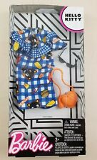 New Barbie Hello Kitty Fashion Pack Chococat Blue Plaid Dress & Accessories