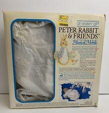 Vintage Beatrix Potter Peter Rabbit Friends Eden Musical Crib Mobile Excellent