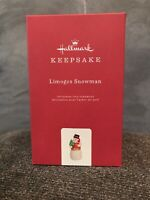 2019 Hallmark Ornament  Limoges Snowman  Keepsake Christmas