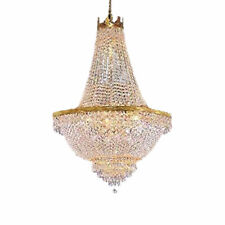 FRENCH EMPIRE CRYSTAL CHANDELIER LIGHTING FIXTURE PENDANT CEILING LAMP GOLD NEW