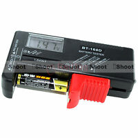 AA AAA C D 9V 1.5V Button Cell LCD Battery Level Checker Volt Voltage Tester NEW