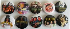 ROCK AND POP   x 10  BADGES, PINS, VINTAGE BUTTONS  set 2