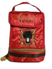 Queen Amidala Insulated Lunch Bag Silky Red Embroidered