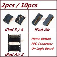 Lot OEM Home Button FPC Connector Socket Plug Logic Board For iPad 3 4 Air Air 2