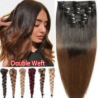 """Ombre Thick Clip in 100% Real Remy Human Hair Extensions 8PCS Double Weft 12-24"""""""