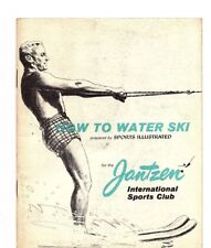 "How To Water Ski By Sports Illustrated paperback Book ""Jantzen Int. Sports Club"""