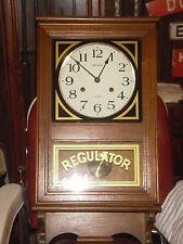 VINTAGE REGULATOR WALL CLOCK-- A GOOD BARBER SHOP CLOCK