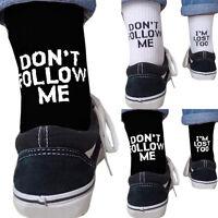 """Damen Herren Socken """"Don't Follow Me"""" Drucken Wintersocken Skaterboard strumpfe"""