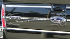 2009-2014 Ford F-150 Pickup Tailgate Insert Trim Molding 6Pc Stainless Steel