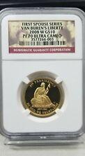2008-W First Spouse Gold $10 Van Buren's Liberty NGC PF 70 Ultra Cameo