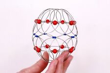 Wire mandala Flower 3d mandala Meditation toy Magic loops Iron bracelet Children