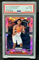 2019 Prizm PINK ICE REFRACTOR Wizards RUI HACHIMURA Rookie Card PSA 8