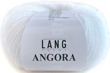 Lang Yarns Angora 01 weiß Angorawolle stricken Flauschwolle