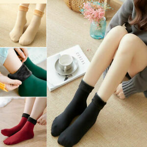 4 Pairs Women Warm Plush Thermal Socks Thick Fleece Lady Winter Snow Boot Socks