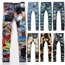 Мужские джинсы мужские узкие джинсы рваные джинсы узкие джинсы джинсовые брюки Slim Fit брюки