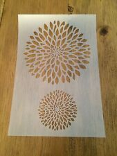 Dahlia Mylar Reusable Stencil Airbrush Painting Art Craft DIY Home Decor & more