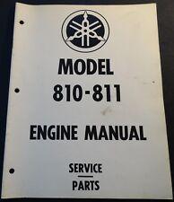 VINTAGE YAMAHA SNOWMOBILE ENGINE 810-811 338 & 396 CC SERVICE MANUAL (815)