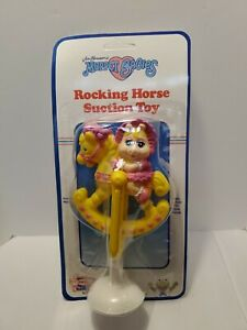 Vintage 1989 Miss Piggy Rocking Horse Muppet Babies Remco Suction Rattle Toy