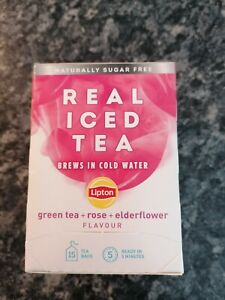 lipton real iced tea Bnib rose elderflower natural