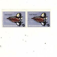 Usa stamp Rw45 Mnh - pair Duck Stamp, Hooded Merganser (mb9