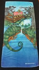 Vintage Authentic Budweiser Swamp, Frogs, Lizards Beach Towel - Free Shipping