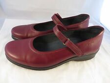 Stonefly Burgundy Mary Jane 40 US 9 Women's Leather Comfort Shock Air Morocco