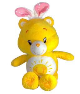 "Funshine Care Bear Yellow Plush 15"" 2015  Bunny Ears Sun Preowned Just Play"