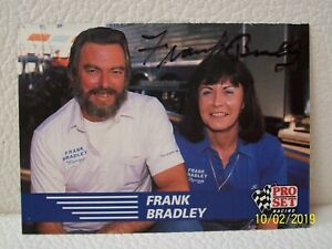Frank Bradley AUTOGRAPHED 1991 PRO SET RACING NHRA Top Fuel TRADING CARD Signed