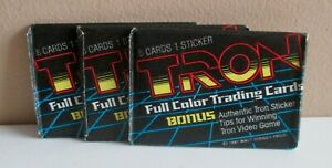 1981 TRON Movie Trading Cards  'FULL COLOR'  Donruss Pack // 8 Cards & 1 Sticker