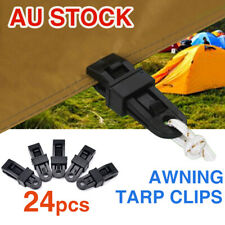 24pcs Heavy Duty Tarp Clips Multi-purpose Awning Clamps for Outdoors Camping