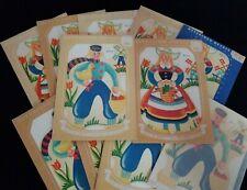 Lot of 11 Vintage Meyercord Transfer Decals 893 A & B Dutch Boy Girl NOS Holland
