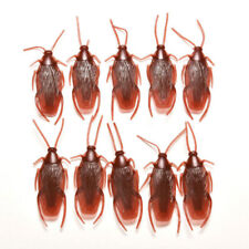 10pcs Halloween Fake Plastic Cockroaches Rubber Toy Joke Decoration Props Toys