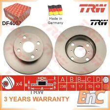 2x FRONT BRAKE DISC SET FOR TOYOTA TRW OEM 4351216070 DF4007 GENUINE HEAVY DUTY