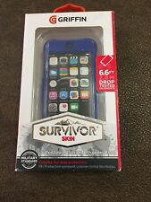 Griffin Survivor Skin case for iPod Touch 5th / 6th Generation Blue New In Box
