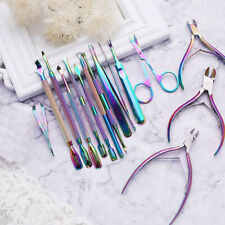 BORN PRETTY Dual-ended Nail Aurora  Pusher Remover Stainless Steel Tool